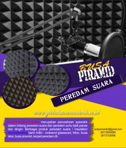 Busa Peredam Suara Piramid 7cm